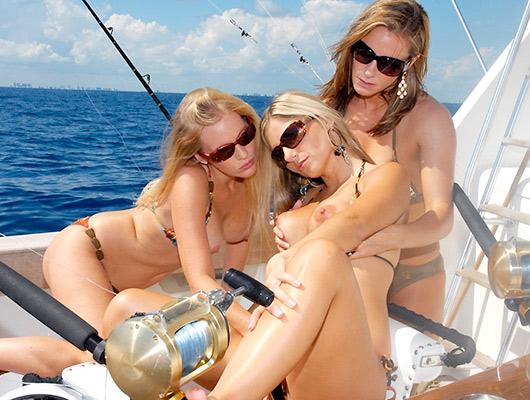 Wild Lesbian MILF Boating Trip with Burns